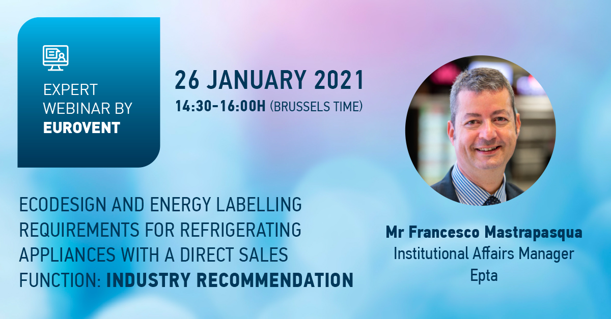 Join Eurovent webinar on Ecodesign and Energy Labelling requirements