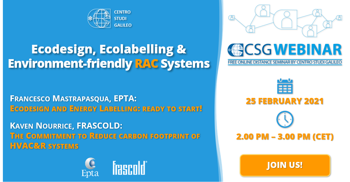 Ecodesign, Energy Labelling & Environment-friendly RAC Systems